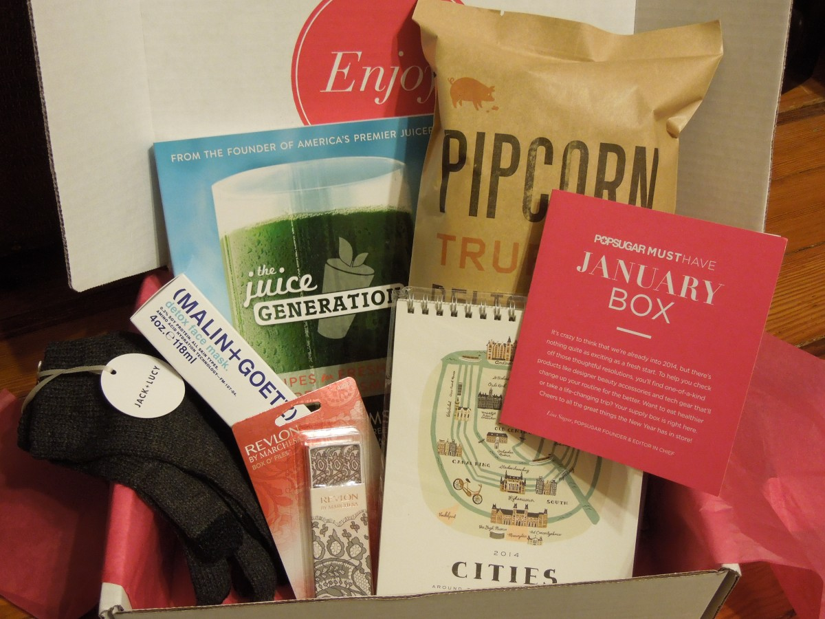 Popsugar Must Have Box: January2014