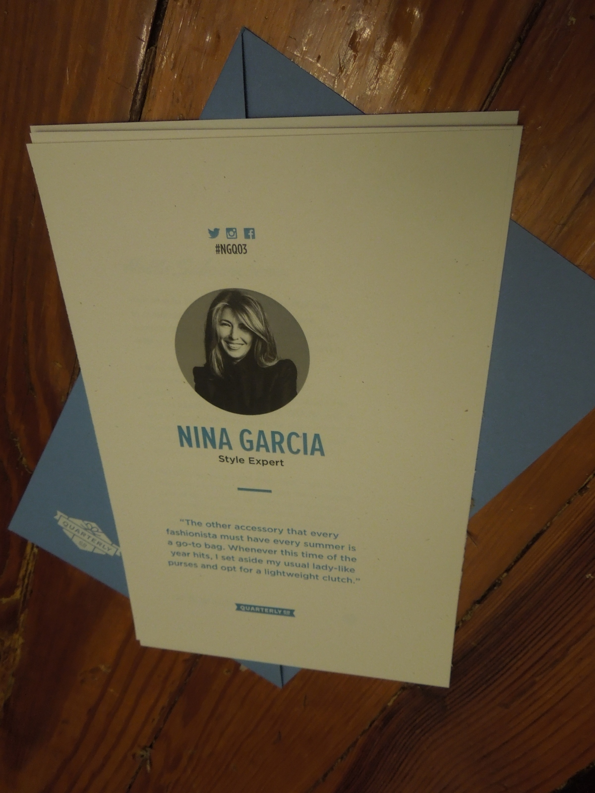 Nina Garcia Quarterly (#NGQ03): July 2014 (An ode to a tiny rubbershoe)