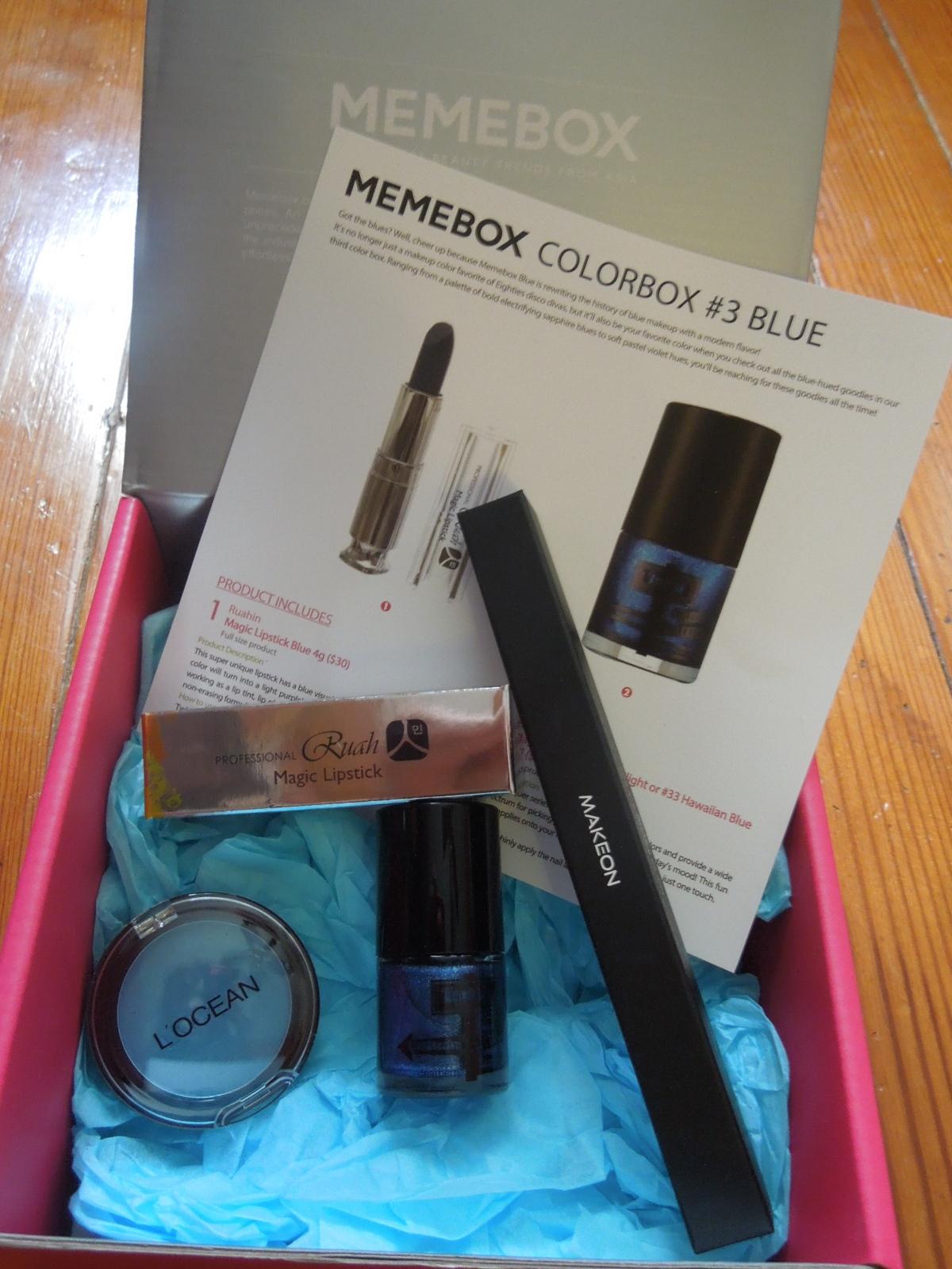 Memebox – Color box #3 (Blue): July2014