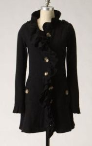 Anthropologie Sweatercoat