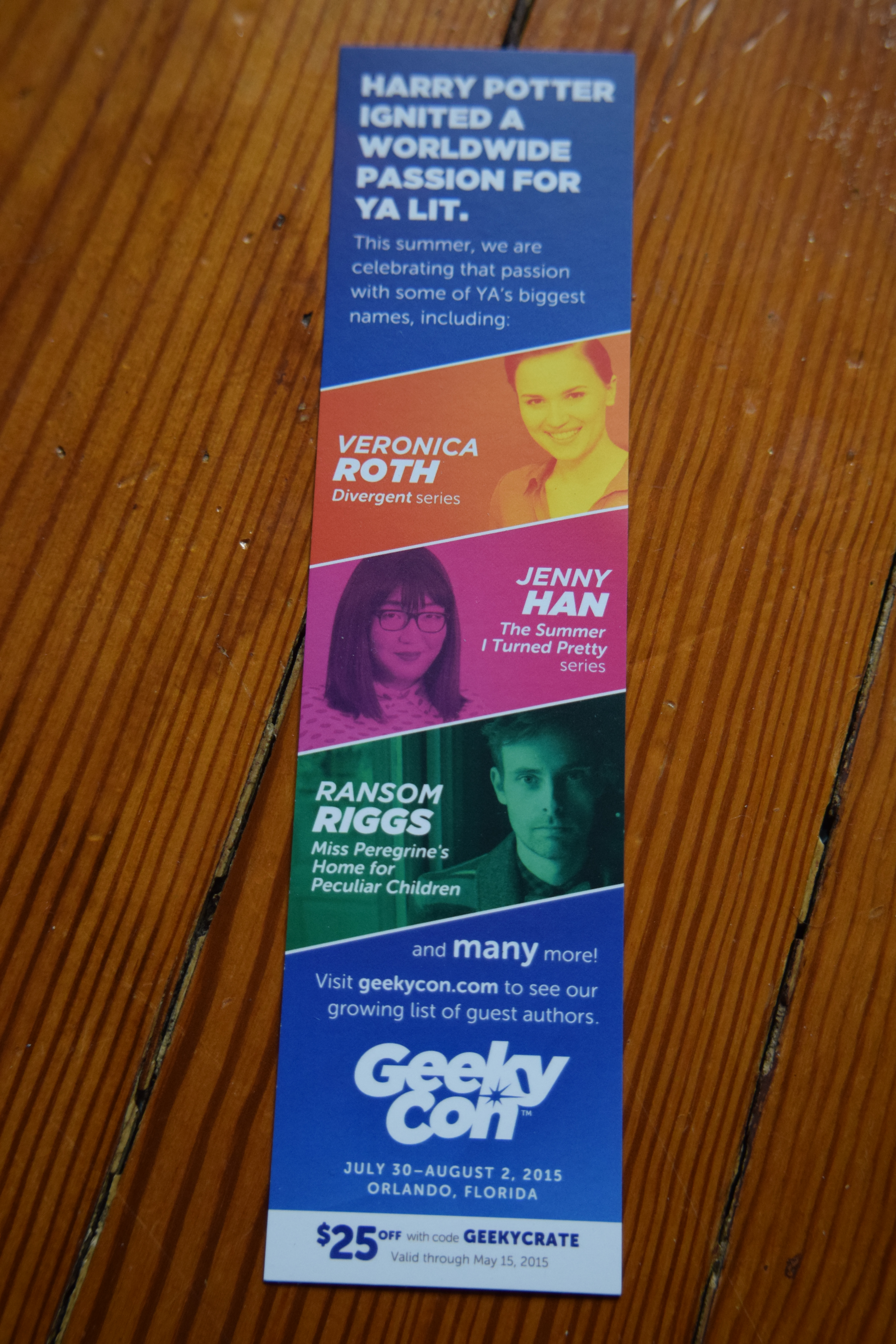 Owlcrate fantasy box subscription therapy also included was this bookmark flyer that offers a coupon code for geekycon just use the code geekycrate before may 15th for 25 off fandeluxe Images