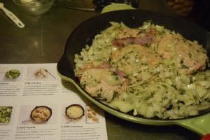Raw Chicken Skillet