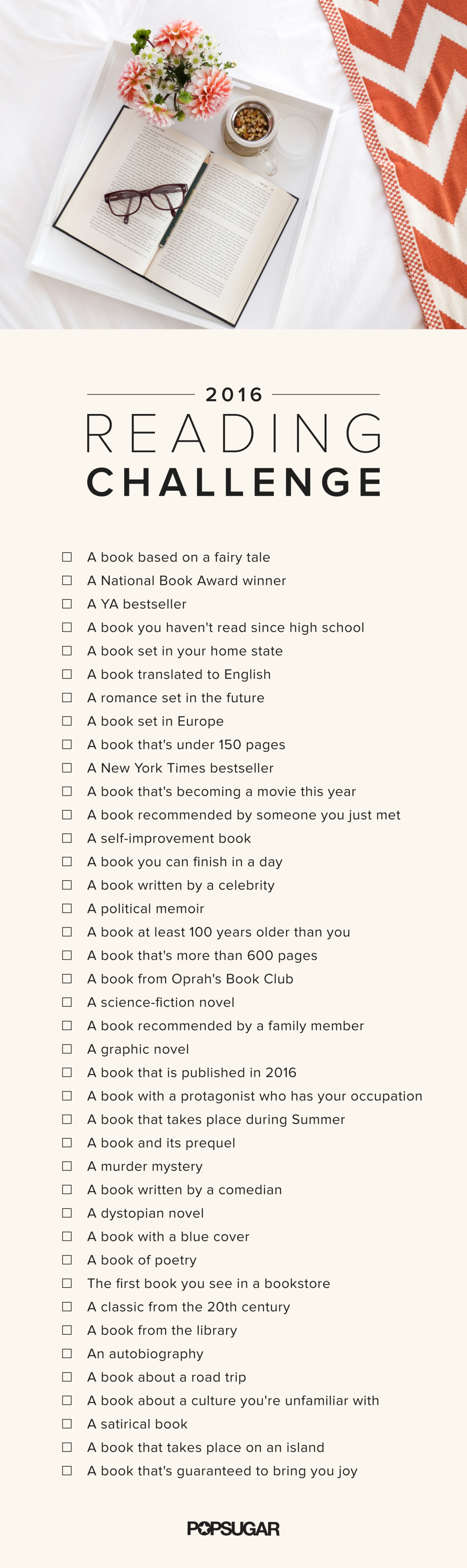 WRITER'S SHELF: The Popsugar Reading Challenge 2015 & 2016!