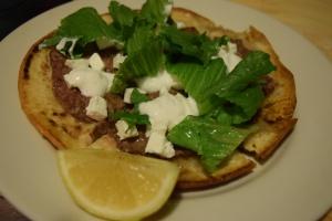 Lamb Flatbreads with Feta, Yogurt & Mint