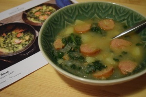 Potato Soup with Kielbasa and Kale