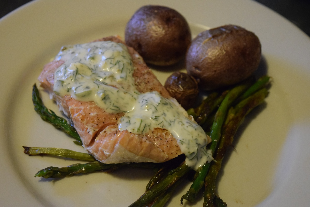 Marley Spoon: Steamed Salmon with Herb Mayo & Avogolemono Soup + $30 Off