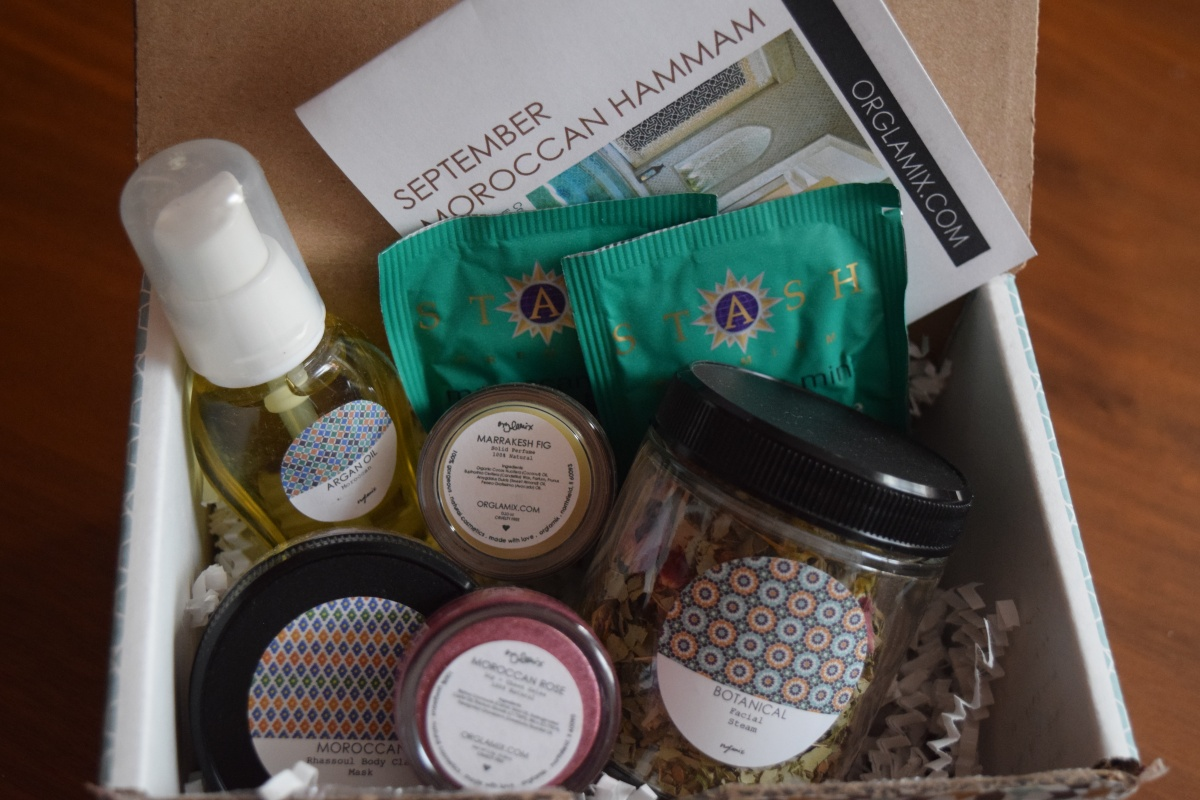 Orglamix Glam Box: September 2016 Moroccan Hammam + 25% Off
