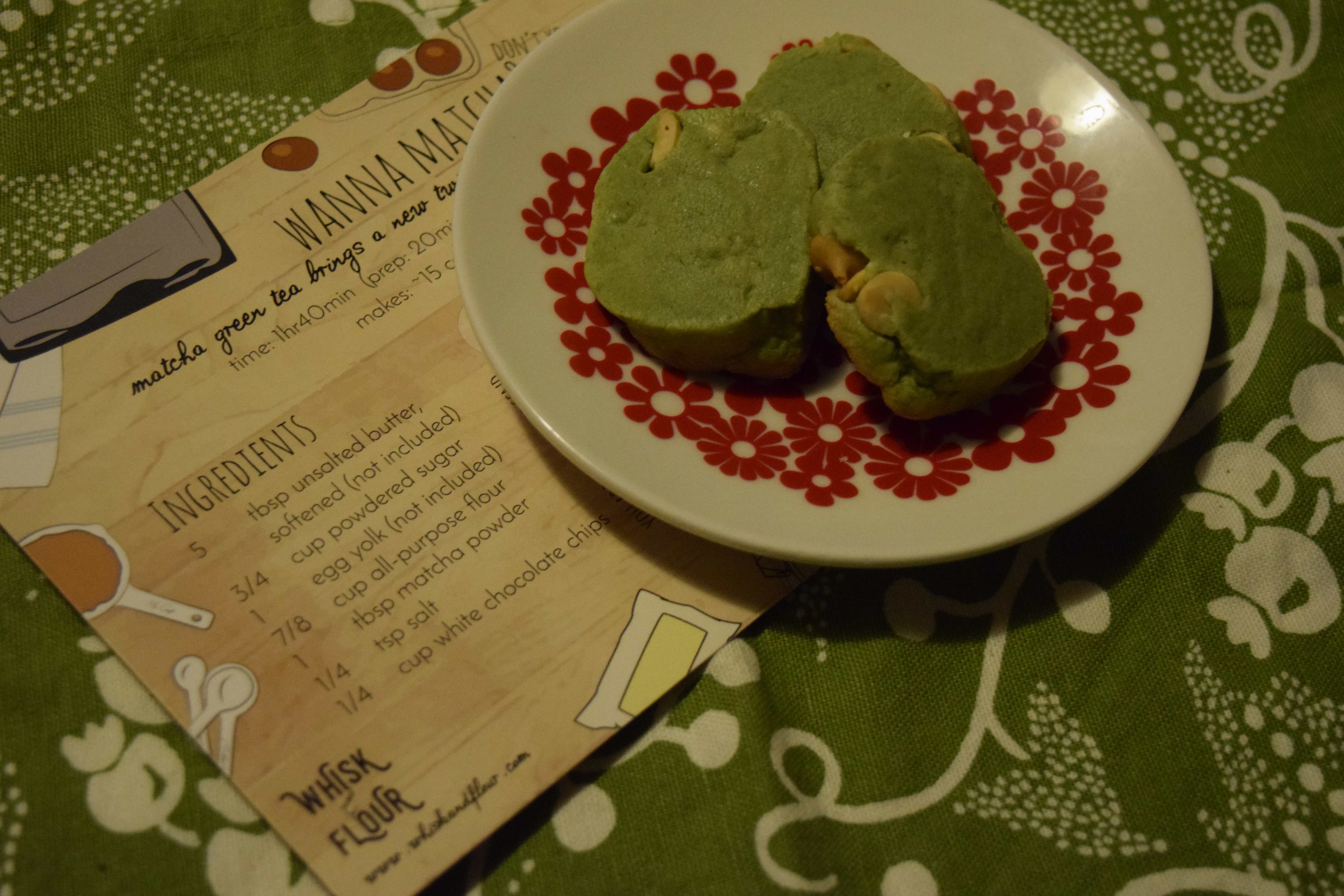 Whisk Amp Flour October 2016 Matcha White Chocolate Chip