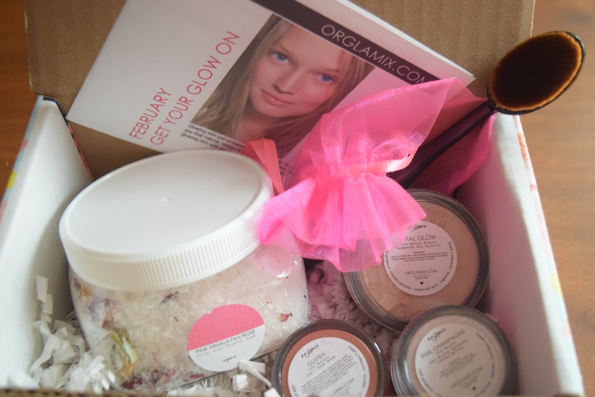 Orglamix Glam Box: February 2017 Get Your Glow On + 25%Off