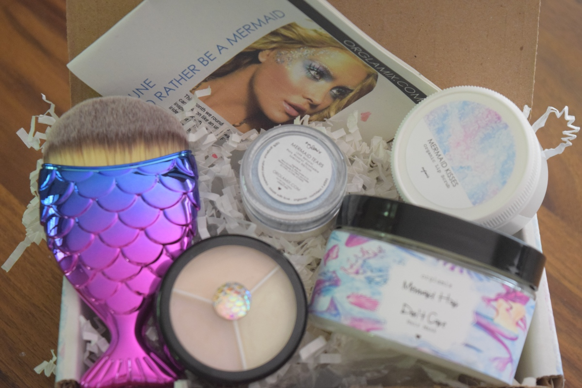 Orglamix Glam Box: June 2017 – I'd Rather Be a Mermaid + 25% Off